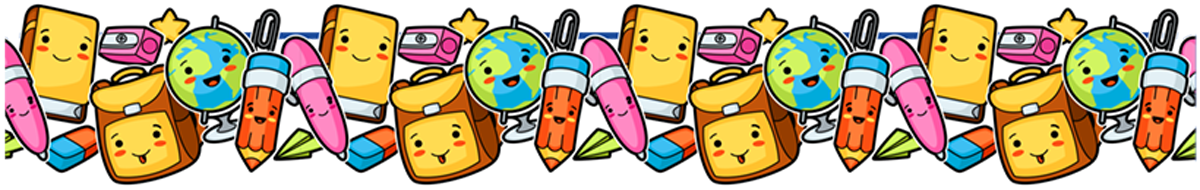 cartoon school supplies
