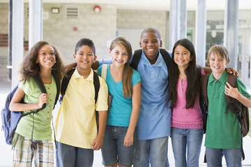 group of smiling young teens