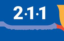 "2-1-1 Tampa Bay Cares logo, ""Get connected. Get Help. 211 Tampa Bay Cares, Inc."""