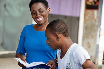 refugee being mentored